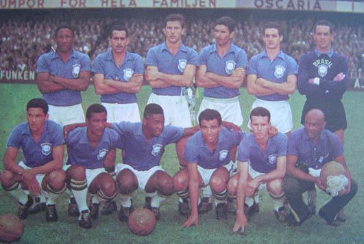 Resultado de imagem para seleção brasileira 1958