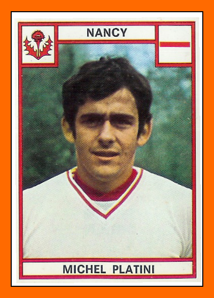 13-Michel PLATINI Panini Nancy 1976