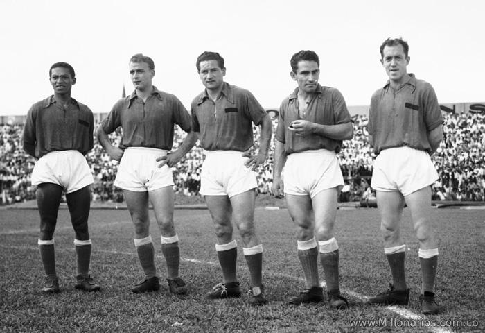 Alfredo Castillo, Alfredo Di Stéfano, Adolfo Pedernera, Antonio Baéz e Reinaldo Mourin.