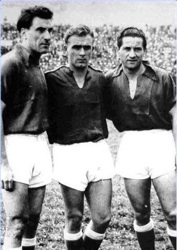 Rossi, Di Stéfano e Pedernera: trio de ouro em Bogotá.