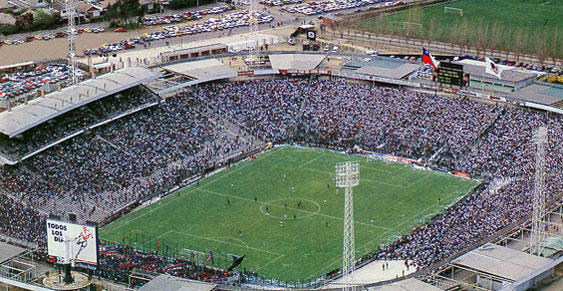 O estádio Monumental, casa do Colo-Colo.