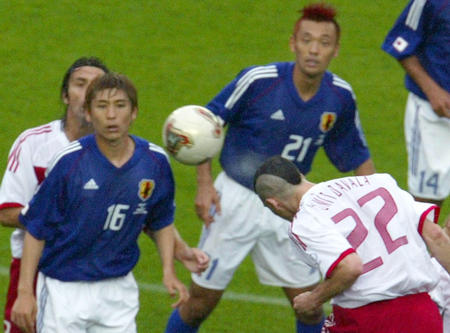 TURKEY'S DAVALA SCORES THE GOAL DURING MATCH IN SENDAI