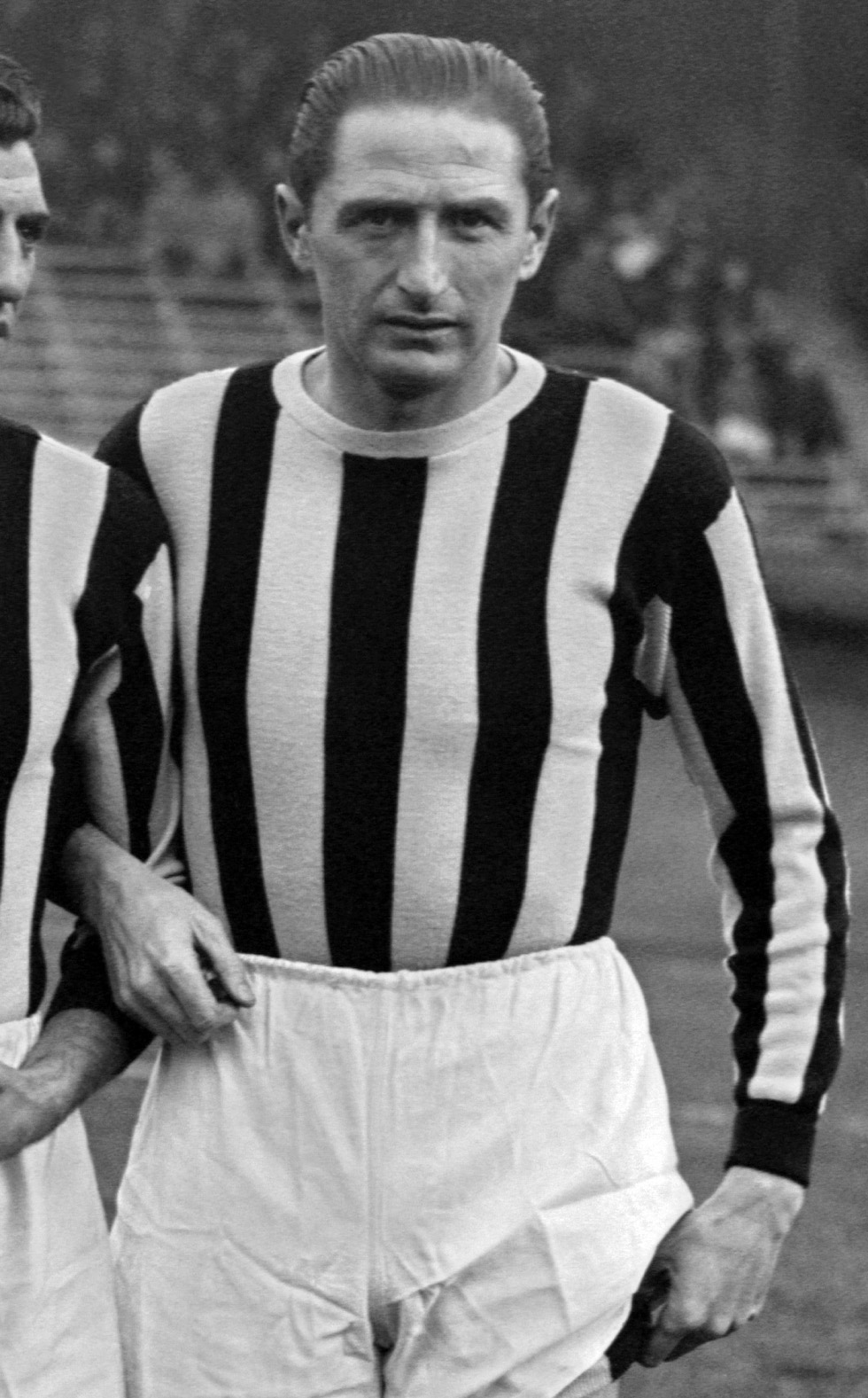 Portrait of Juventus Turin's forward Silvio Piola