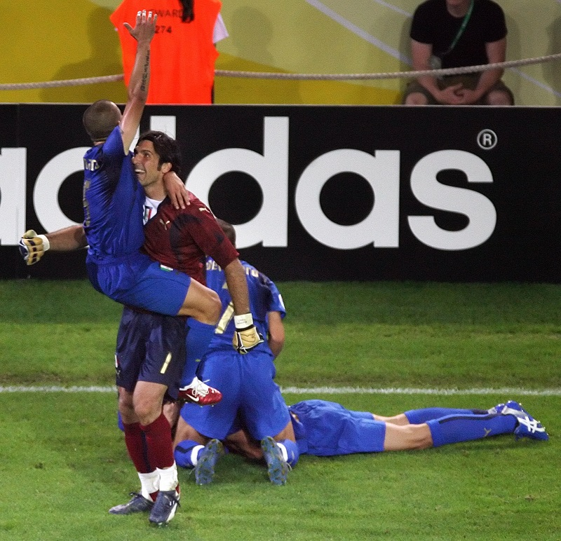 Italian goalkeeper Gianluigi Buffon and