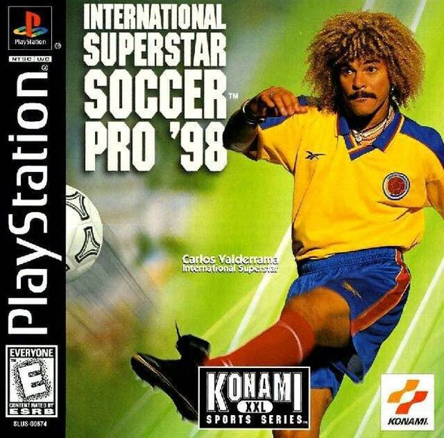 Valderrama foi capa do game ISS Pro ´98...